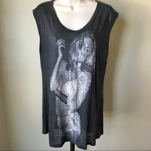 Zara Collection Sleeveless Graphic Top Size M